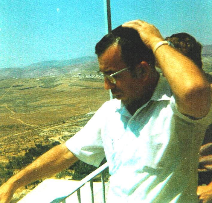 הרב צבי אריה רוזנפלד זל באחת הנסיעות לארץ ישראל
