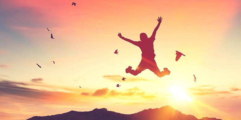 שמחה היא הביטוי הכי נכון למצב של חופש וחירות אמיתיים