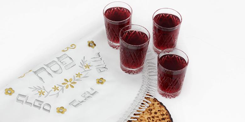 שתיית ארבע כוסות יין בליל הסדר פסח