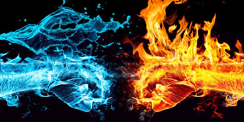 המים והאש מקבילים לאהבה וליראה