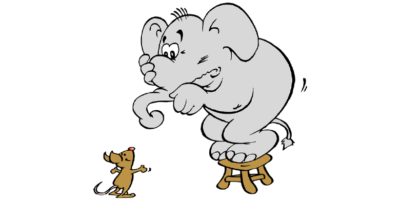 למה פיל מפחד מעכבר? כי הוא לא מכיר את הכוח שלו!